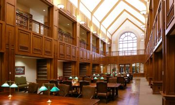 Interior photo of law library