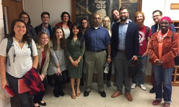 Arvind Ganesan with OU Law Students