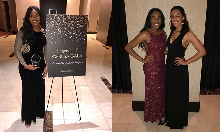 Micah Mahdi was named SW NBLSA Chapter President of the Year, and Chanel Glasper (center) was elected Regional Secretary for 2019-2020.