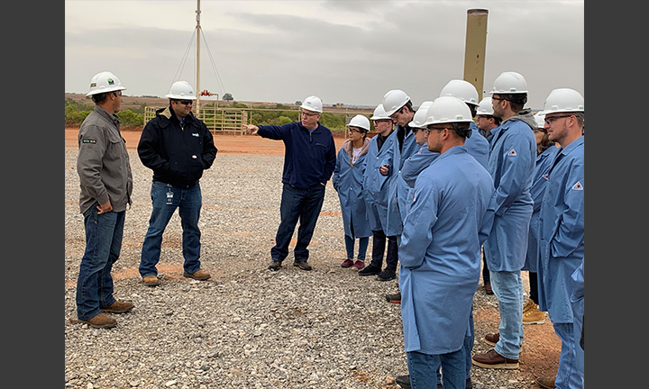OU Law Students Tour the Gulfport Energy Production Site
