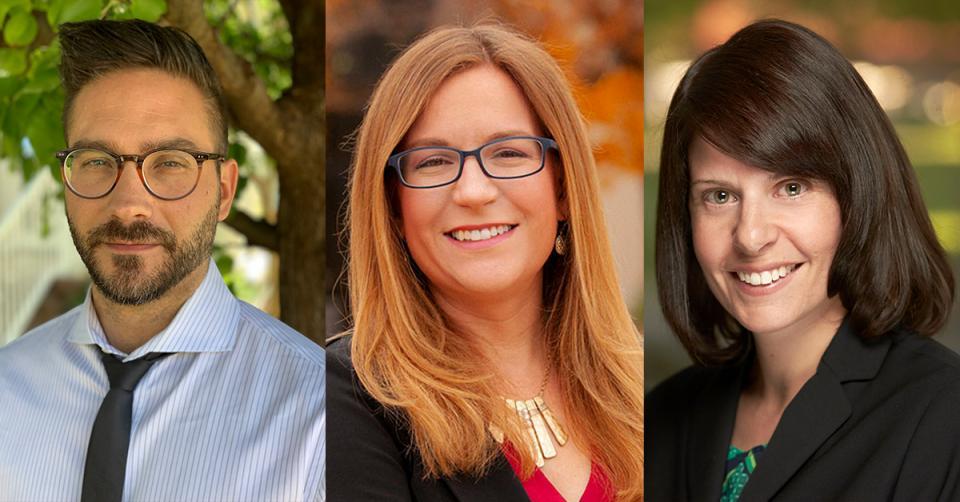 Professor Alex Pearl, Professor Tracy Pearl and Professor Stacey Tovino